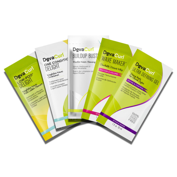 5 Packettes: Low-Poo & One Condition Delight, Buildup Buster, Wave Maker & Ultra Defining Gel