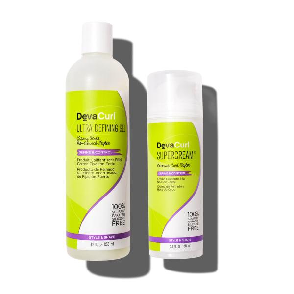 ultra defining gel and supercream bottles