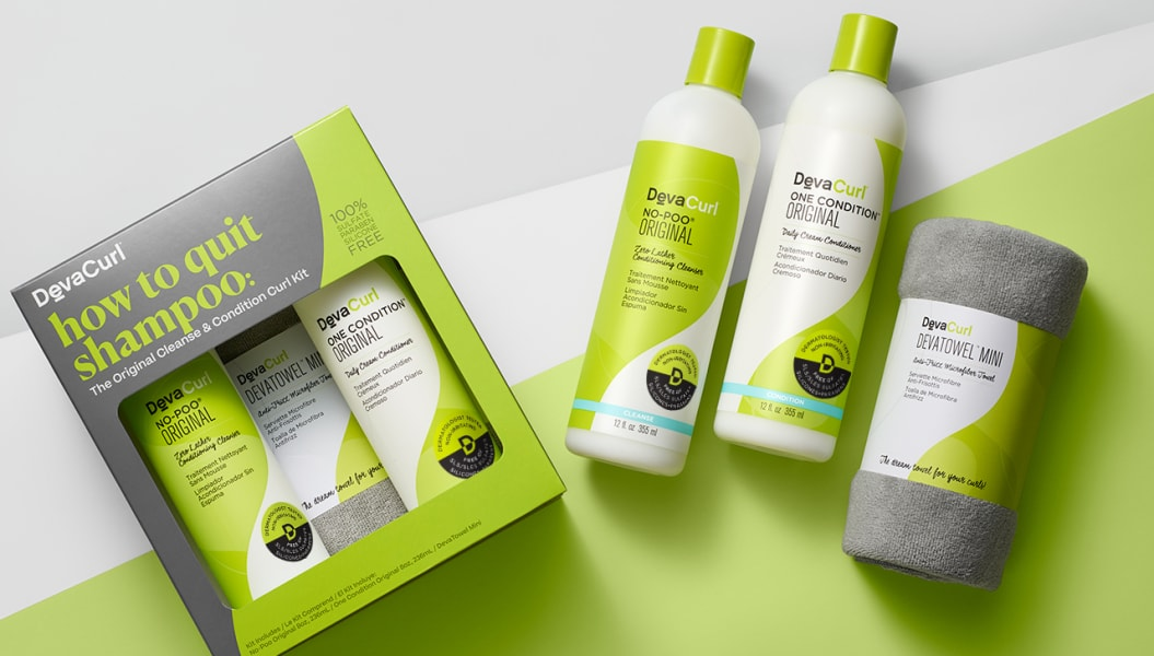 DevaCurl how to quit shampoo kit with contents outside