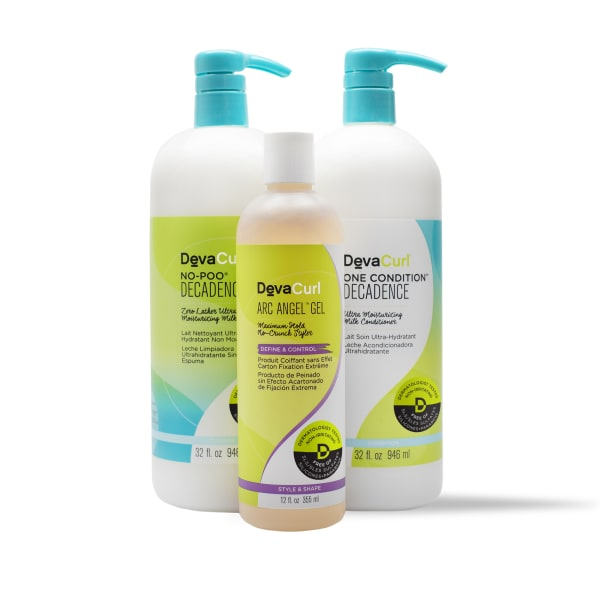 No Poo & One Condition Decadence 32oz bottles with Arc AnGel Gel 12oz bottle
