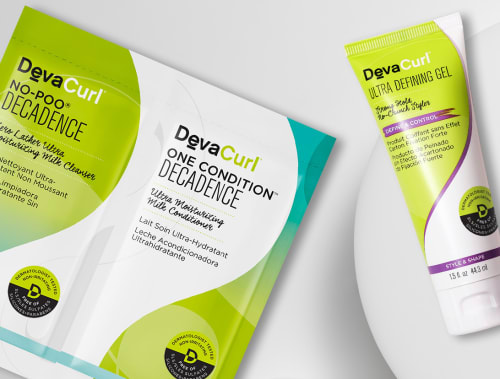 No-Poo & One Condition Decadence packettes + Ultra Defining Gel mini tube
