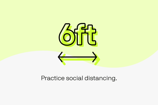 6 feet social distance icon