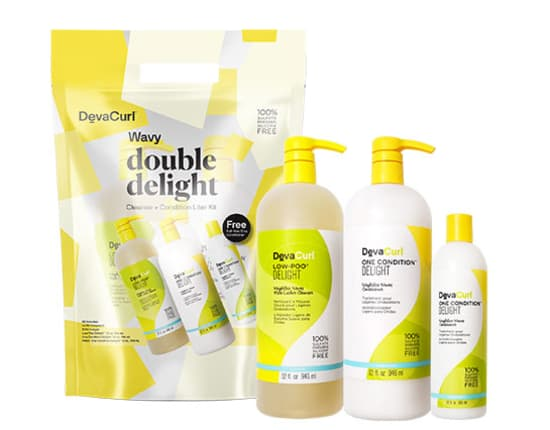 low-poo and one condition delight liters with ultra defining gel 12oz bottle