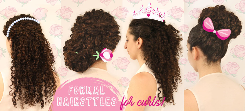 Updo Hairstyles For Naturally Curly Hair Formal