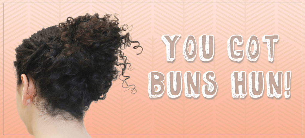 Curly Hairstyles 2 Easy Bun Styles For Curly Hair