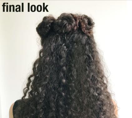 Two Easy Hair Bun Styles For Curly Hair Devacurl Blog