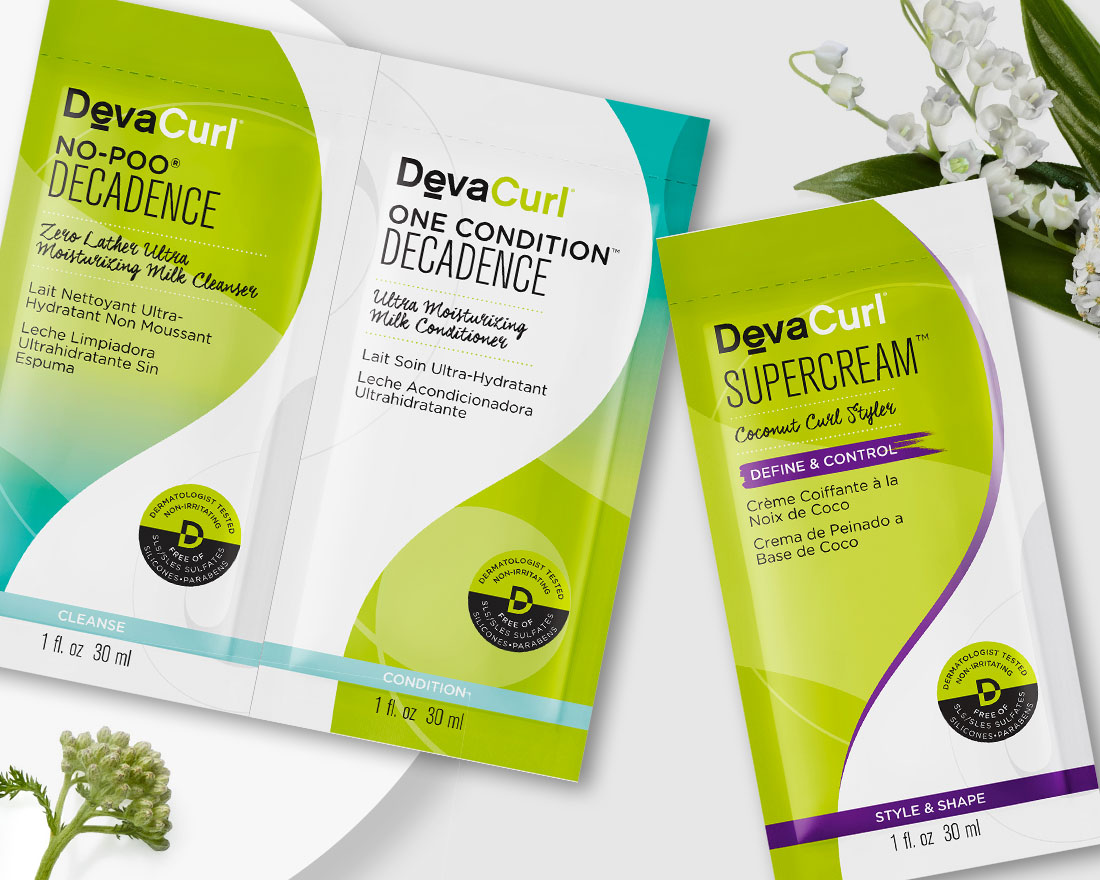 cleanse, condition and styler packettes
