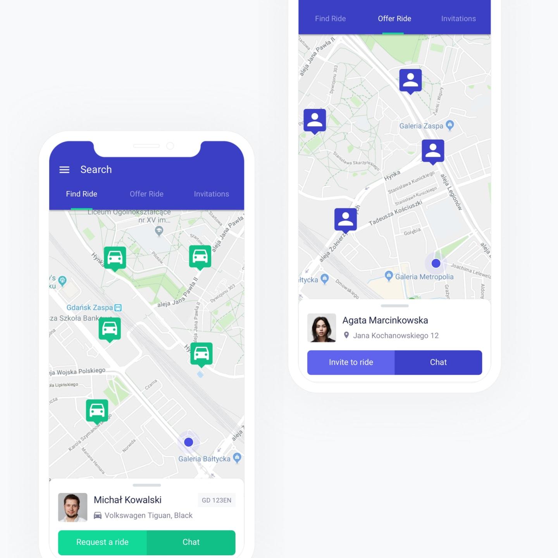 mobile app screen left