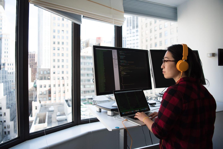 An image of a developer.