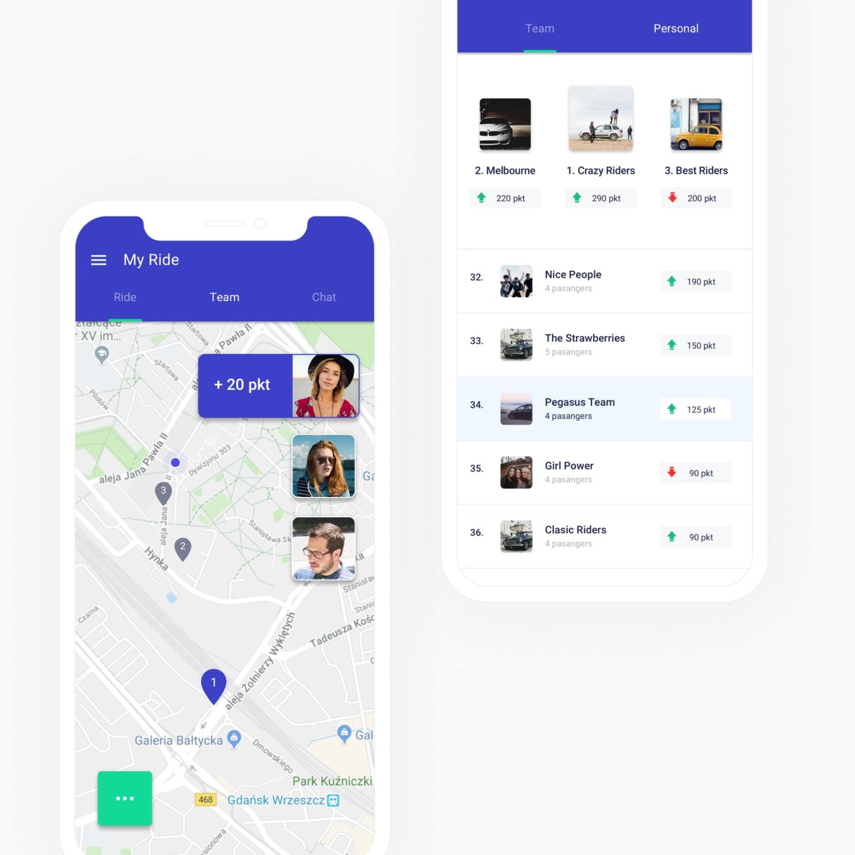 mobile app screen right