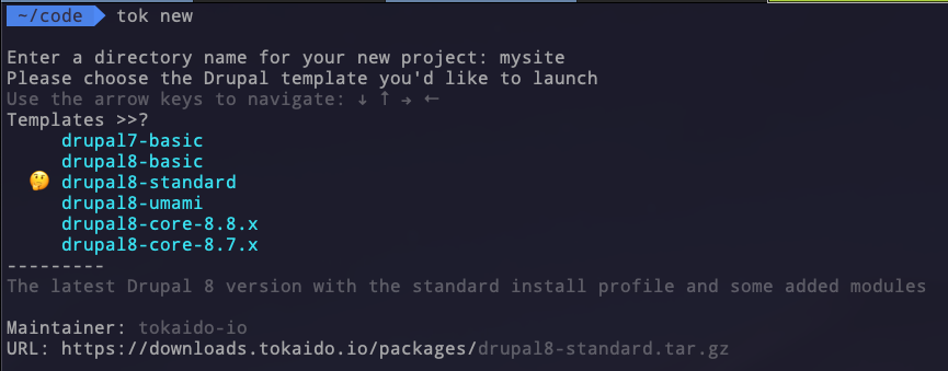 Starting a New Drupal Project   Tokaido Documentation
