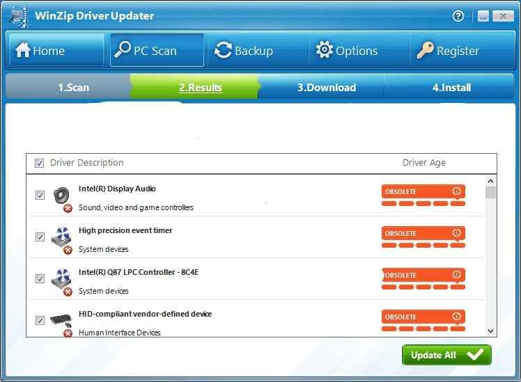WinZip the best software to update drives
