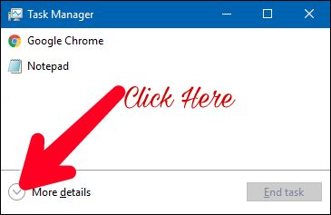 Click on more details to access advance setting