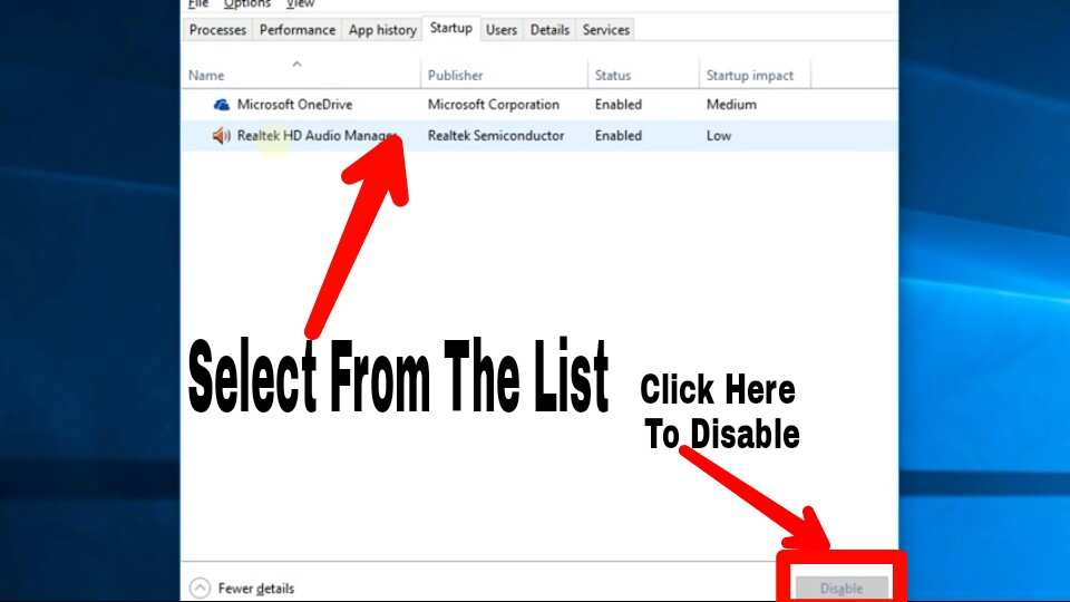 Select together and disable