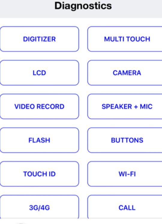 iphone 6 diagnostic test