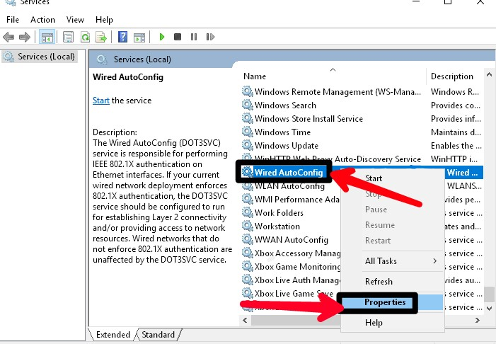 the wireless autoconfig service is not running windows 10