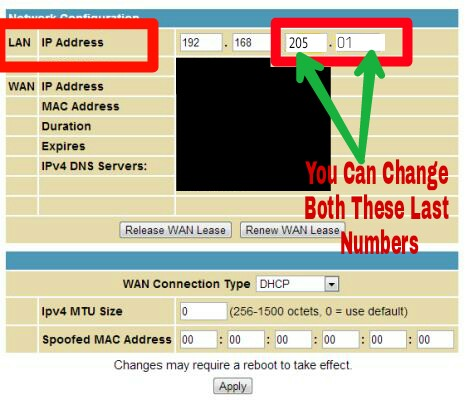 how to change public ip address
