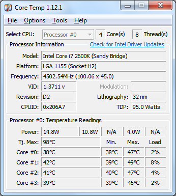 how to monitor CPU temperature in Windows