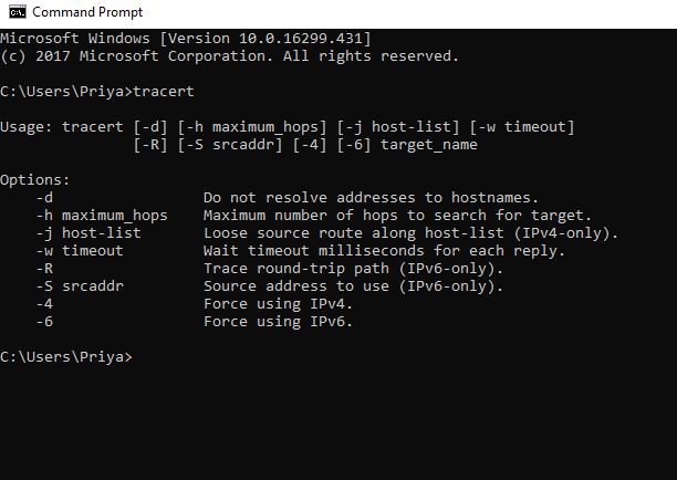 windows 10 command prompt commands list