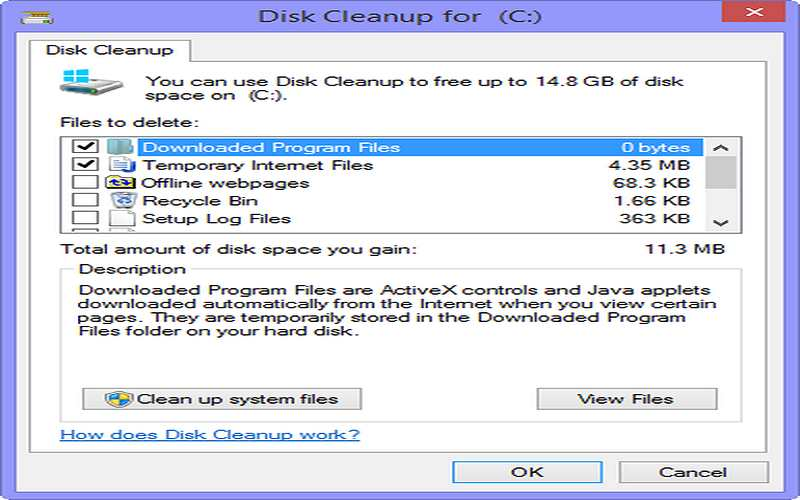 how to clear cache memory in windows 8