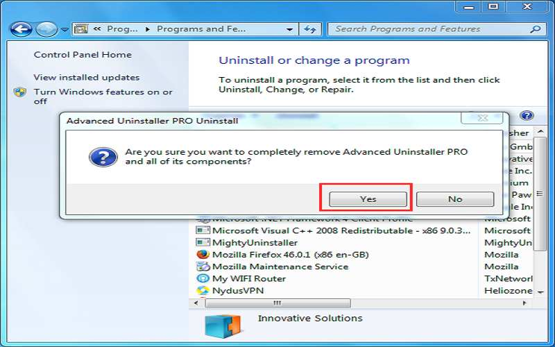 how to uninstall programs on windows 7 that cannot be uninstalled