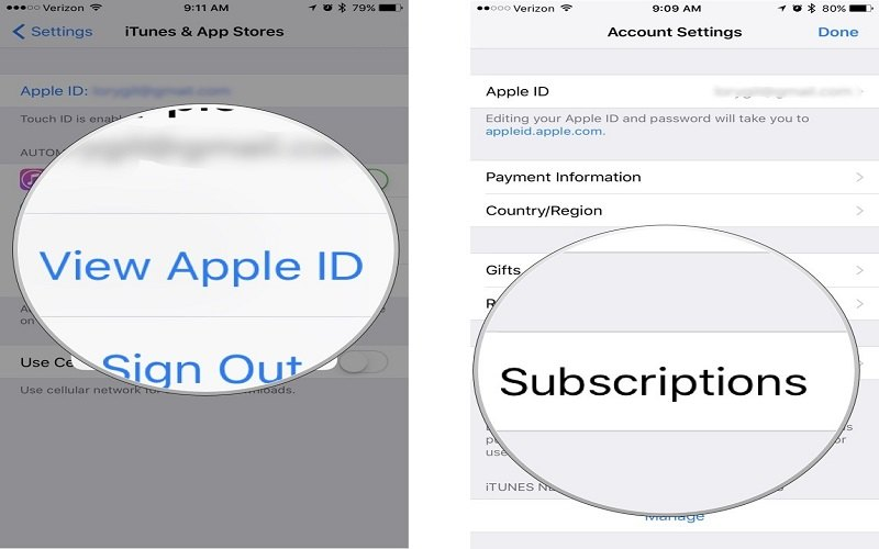 how to cancel subscriptions on iphone 8