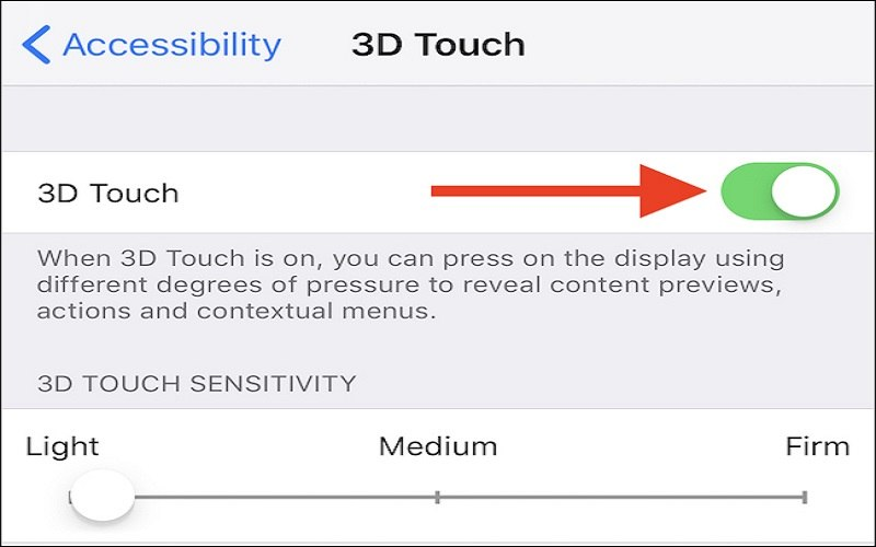 how to enable 3d touch on iphone xr