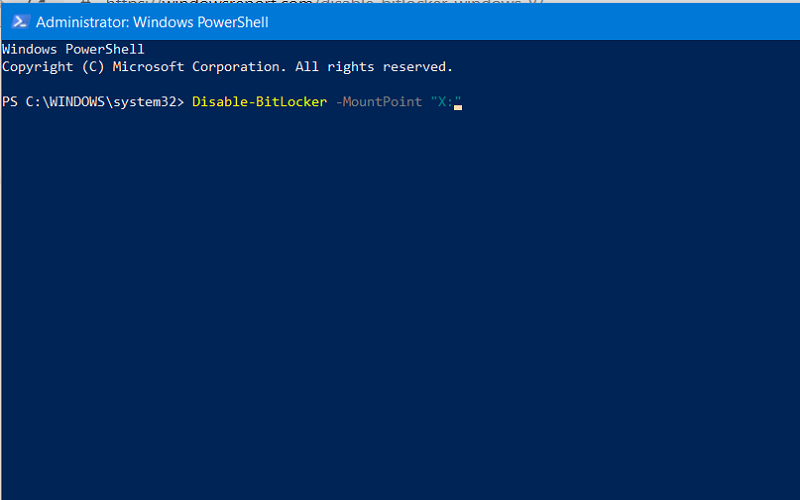disable bitlocker windows 10 registry