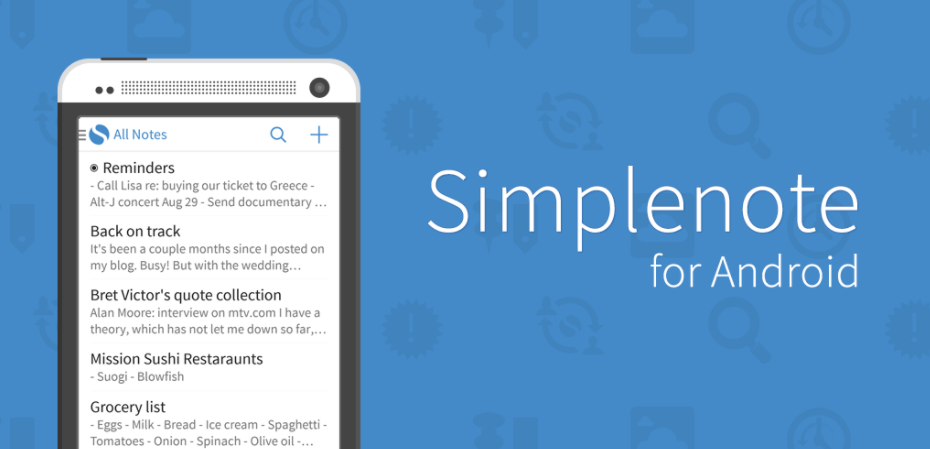 Simplenote as evernote alternative