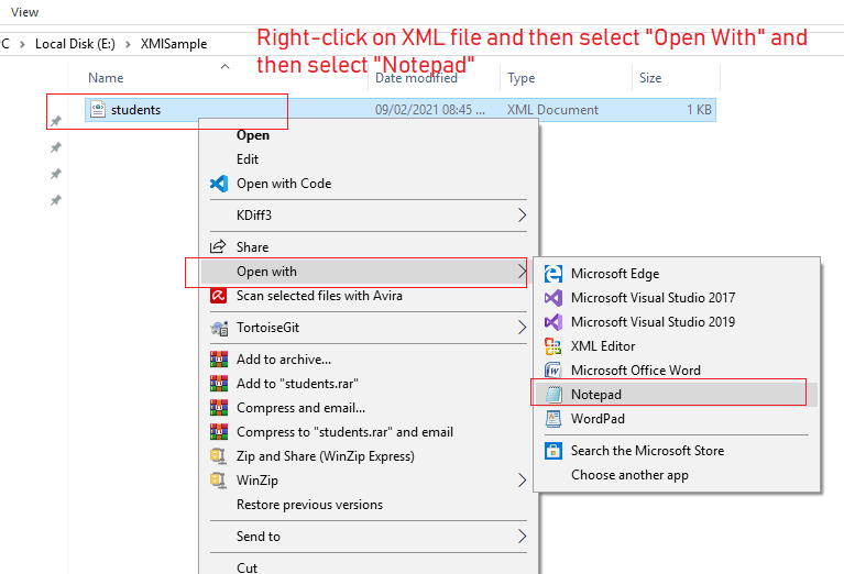 How to open XML file in windows 10? (What is XML format?)