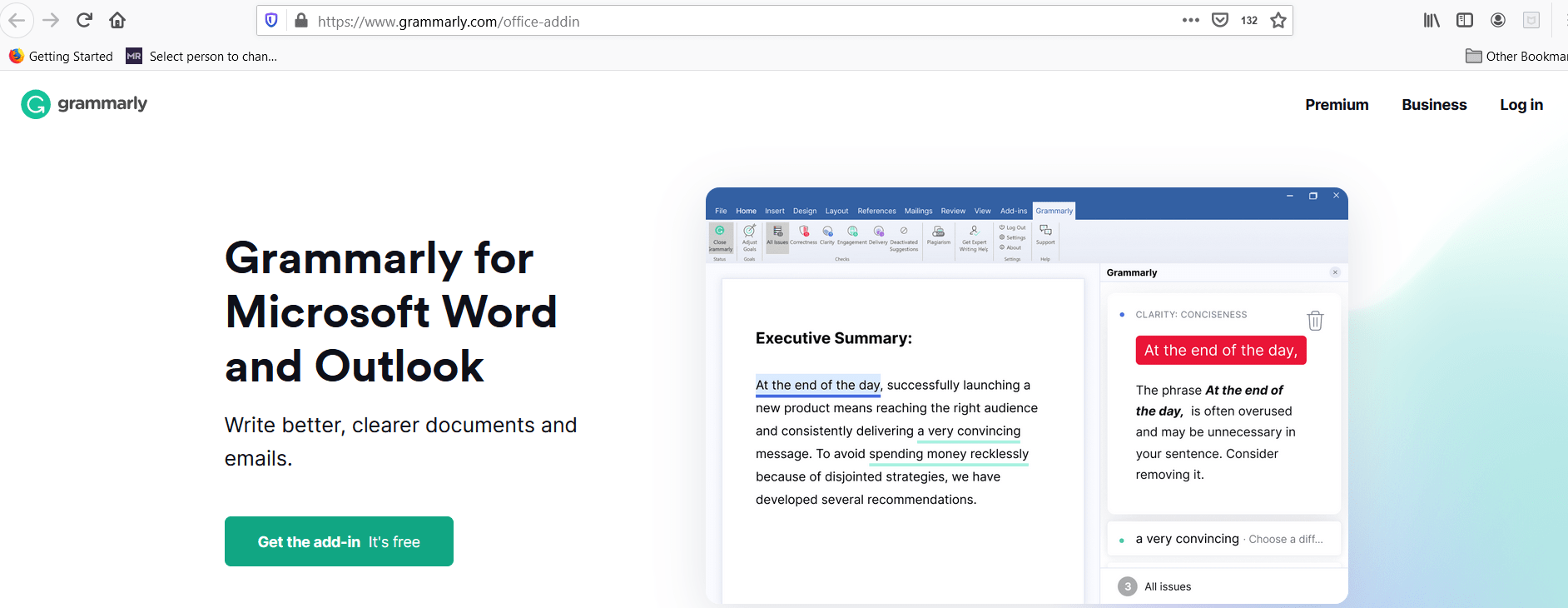 Installing Grammarly for Outlook