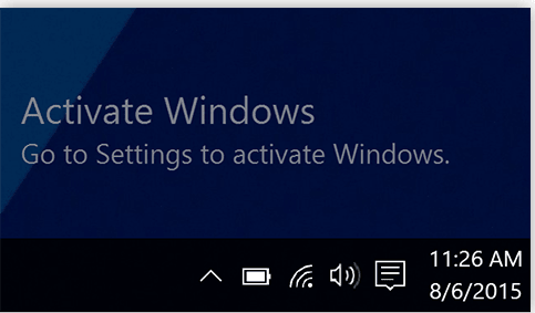 How to get rid of the activate windows watermark?