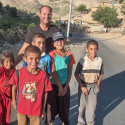 Chris with kids in krg res