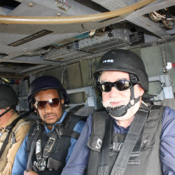 Helicopter client visit in iraq