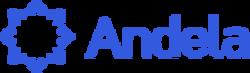 Andela logo landscape blue