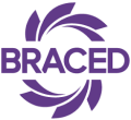 Braced logo large white