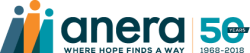Anera logo 50th