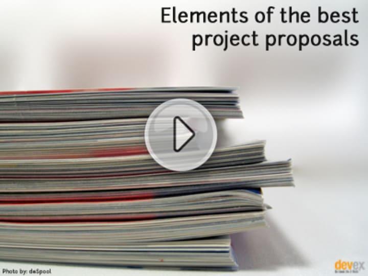 Elements of the best project proposals | Devex