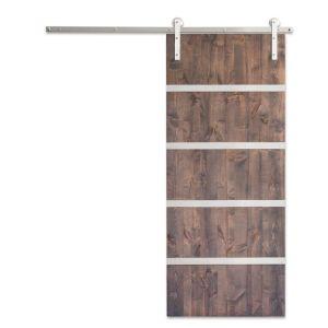Modern 5-Panel Barn Door