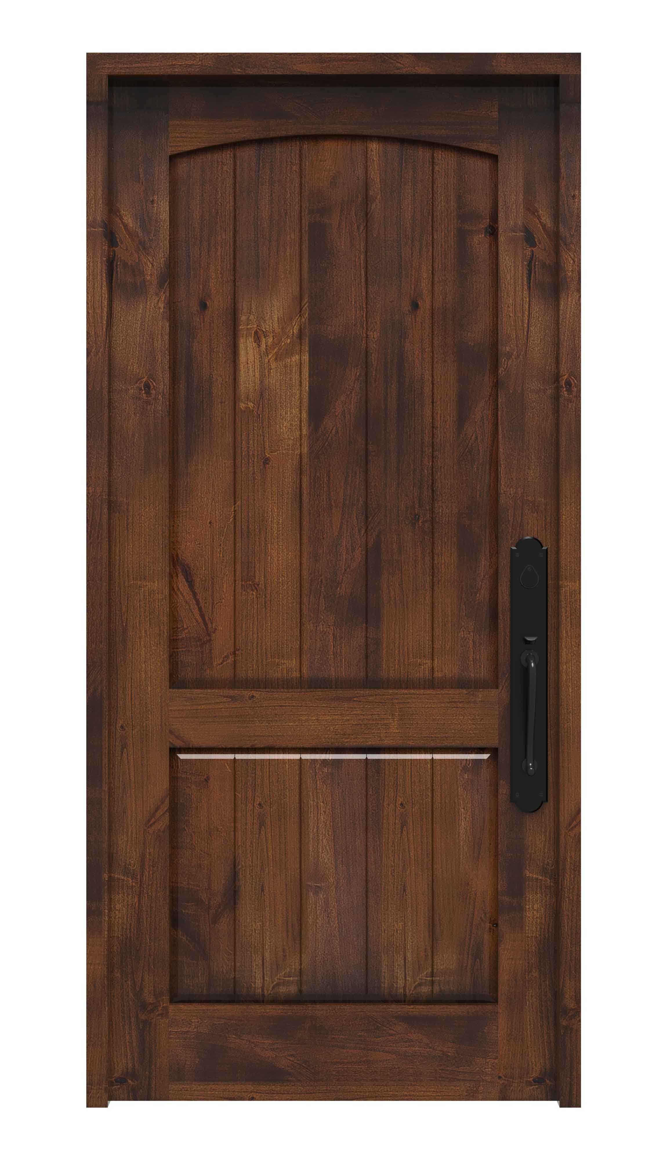 Traditional Solid Wood Front Entry Door Rustica Hardware