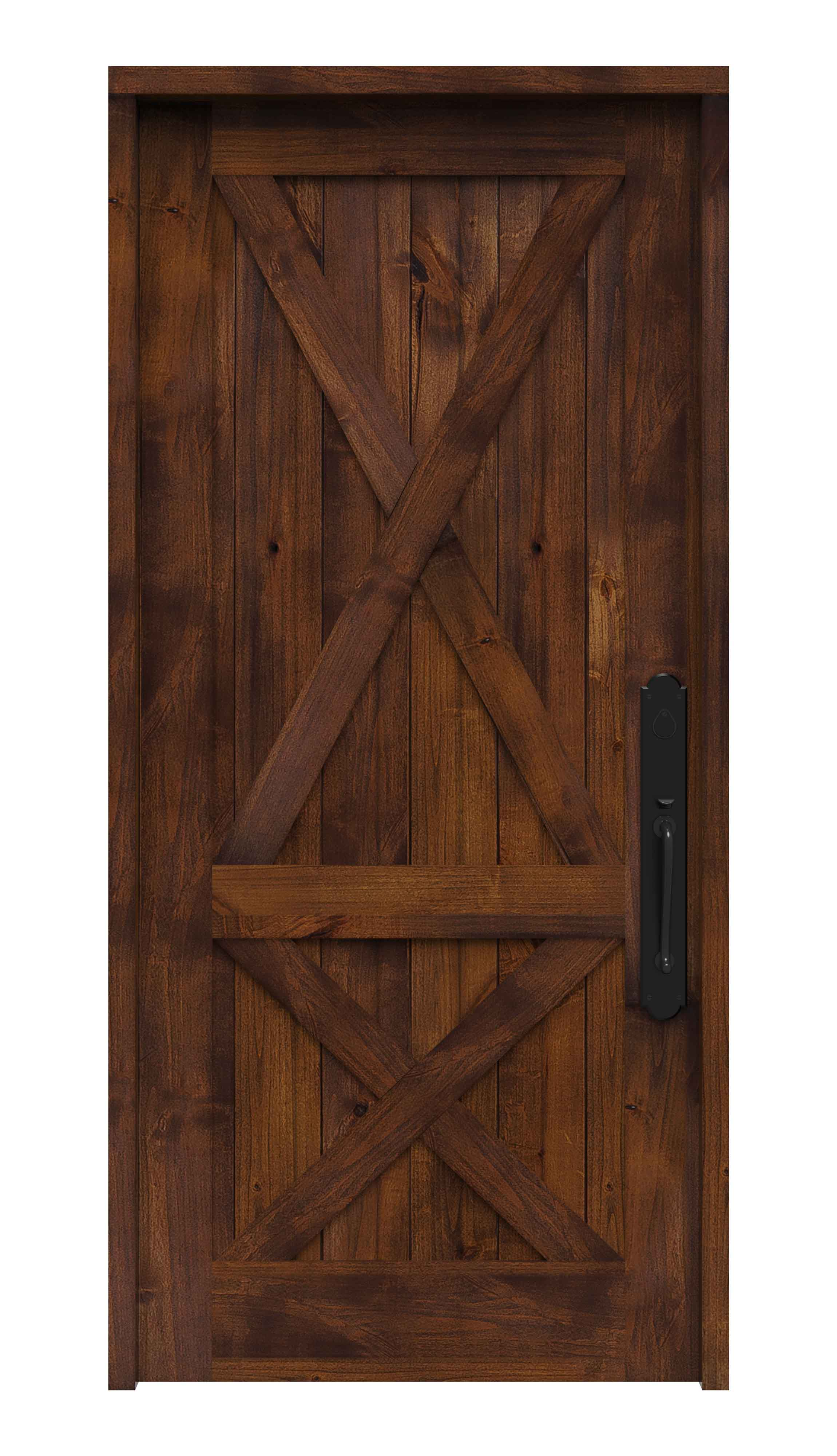Double Crossbuck Front Entry Door Rustica Hardware