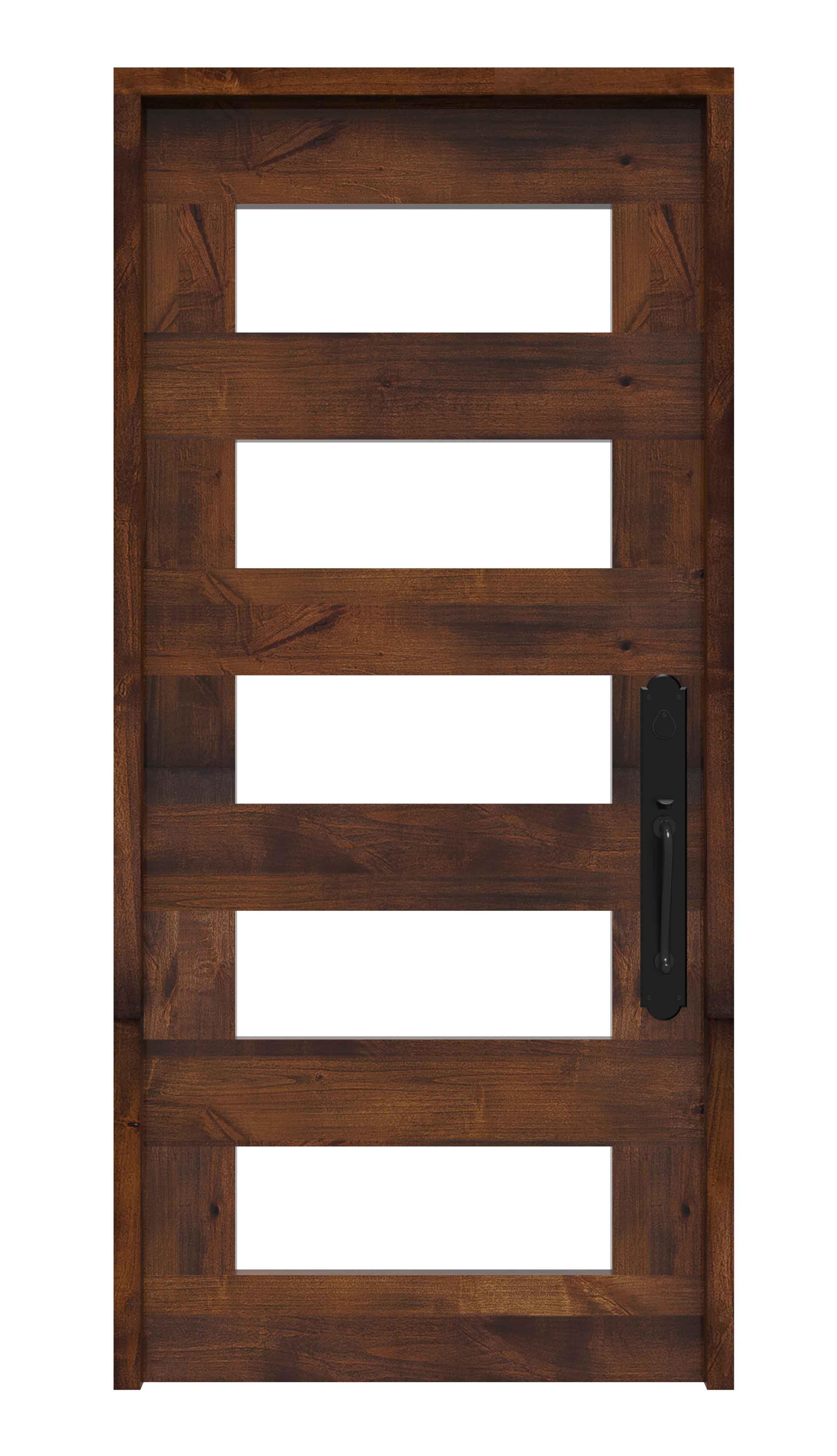 5 Lite Exterior Door With Craftsman Detail Rustica Hardware