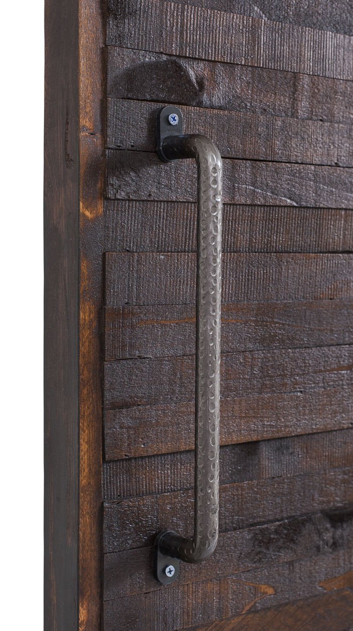 Hammered Metal Sliding Barn Door Handle Rustica Hardware