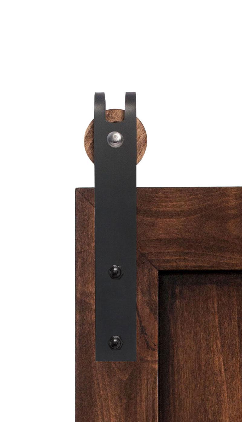 mini sliding barn door hardware kit rustica hardware. Black Bedroom Furniture Sets. Home Design Ideas