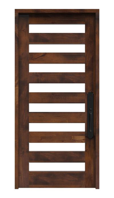 Modern 8 Panel Glass Front Door Rustica Hardware