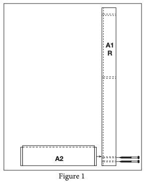 2 panel barn door install step 1