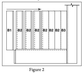 2 panel barn door install step 2