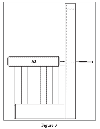 2 panel barn door install step 3