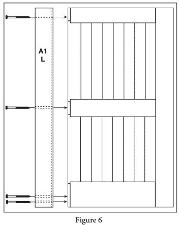 2 panel barn door install step 6