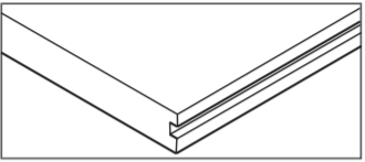 door mount floor guide groove